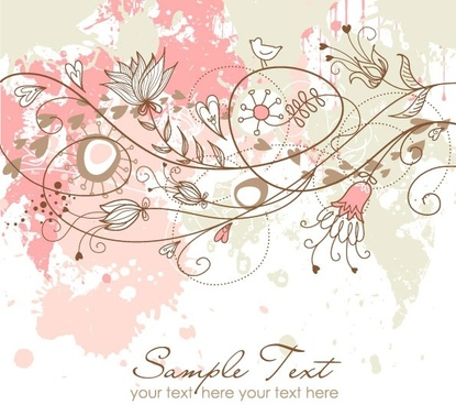 exquisite handpainted background pattern 01 vector