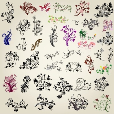 exquisite handpainted pattern 01 vector