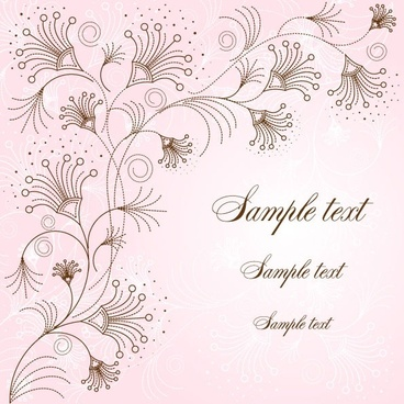 exquisite handpainted pattern background 02 vector