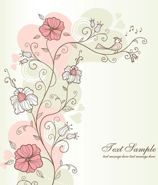 exquisite handpainted pattern background 04 vector