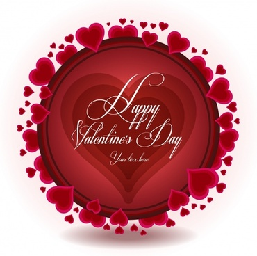 exquisite heartshaped valentine background vector