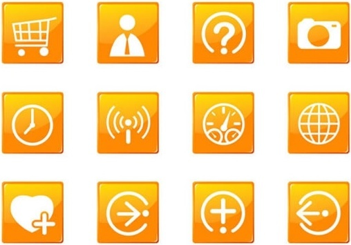 digital ui icons flat square button sketch