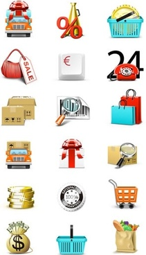 trading icons templates modern colorful symbols