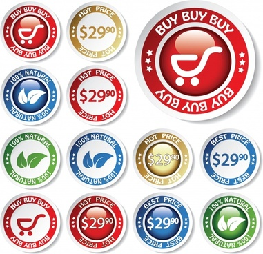 exquisite label stickers vector