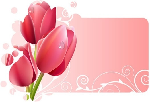 tulip background shiny colored modern design