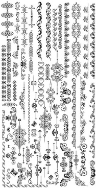 exquisite lace pattern 02 vector