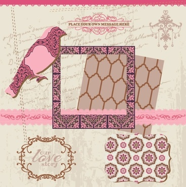 exquisite lace pattern 03 vector