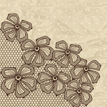 exquisite lace pattern background