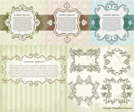 exquisite lace pattern vector