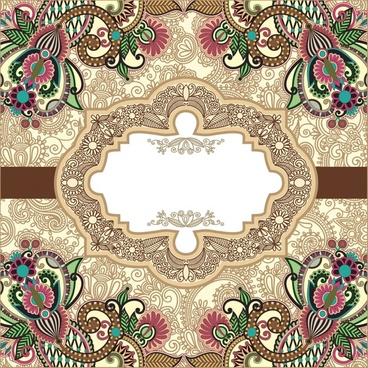 exquisite lace pattern vector ham