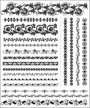 exquisite lace two sides continual vector