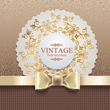 exquisite lace vintage cards vector set