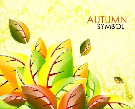 exquisite leaf background 03 vector