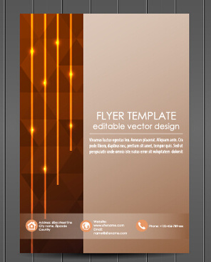 exquisite magazine cover design vector set