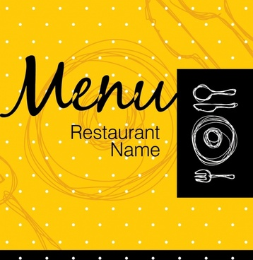 exquisite menu cover vector