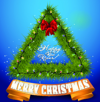 exquisite new year christmas background vector