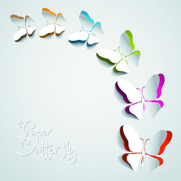 exquisite paper butterfly vector backgrouns
