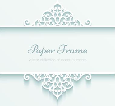 exquisite paper floral vector background art