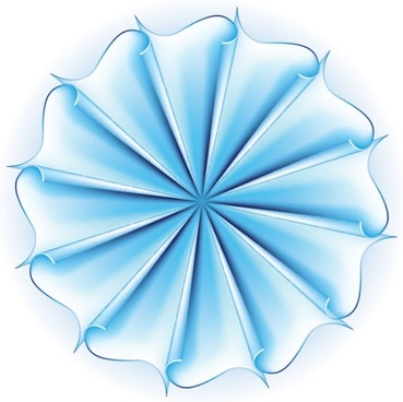 paper flower template symmetric 3d modern bright blue