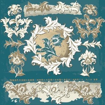 exquisite pattern 02 vector