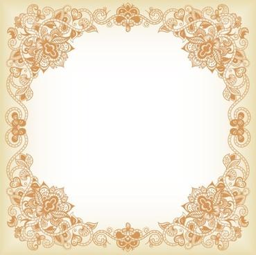 exquisite pattern border 03 vector