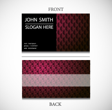exquisite pattern business cards vector design