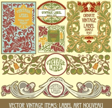 exquisite pattern stickers 02 vector