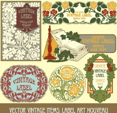 exquisite pattern stickers 03 vector