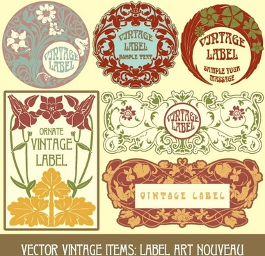 exquisite pattern stickers 05 vector