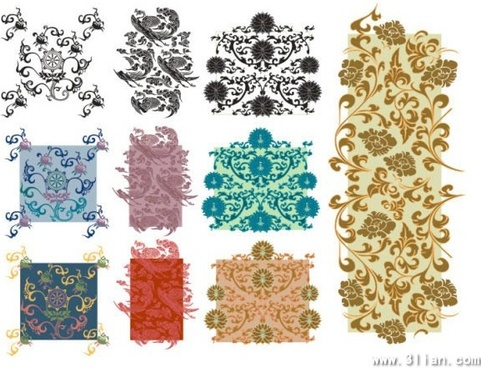 pattern design elements classical seamless curves ornament