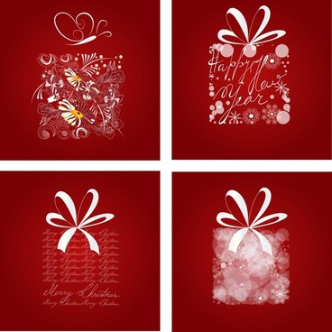 xmas backgrounds gifts layout bokeh nature texts decor