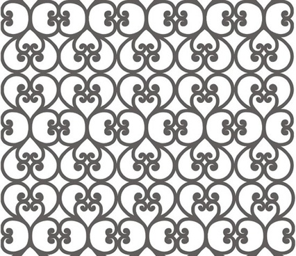 decorative pattern classical repeating flat hearts shapes decor
