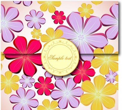 sealed envelope template colorful floral decor 3d sketch