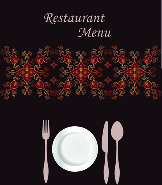 exquisite restaurant menu cover vector set