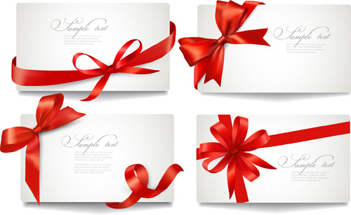 Vector gift card free vector download 14232 free vector for exquisite ribbon bow gift cards vector set negle Images