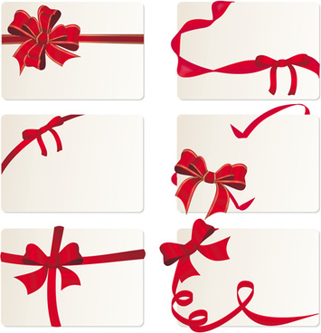 exquisite ribbon cards vector