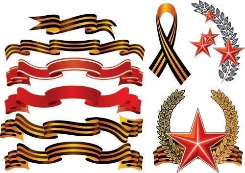exquisite ribbons 03 vector