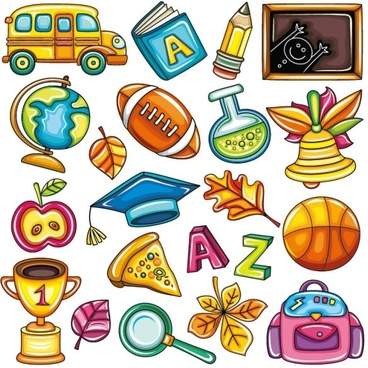exquisite school supplies 01 vector