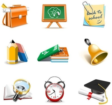 exquisite school supplies 03 vector