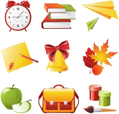 exquisite school supplies 04 vector