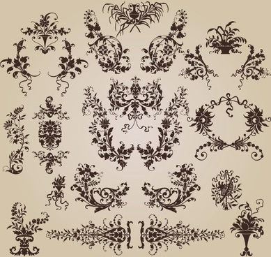 exquisite shading pattern 01 vector