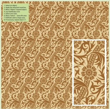 exquisite shading pattern background pattern 01 vector