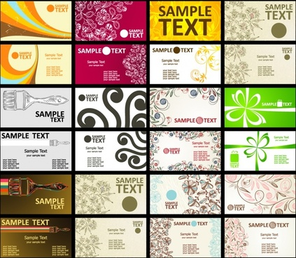 card backgrounds collection various themes modern classic design