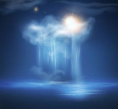 Exquisite thunderstorms background