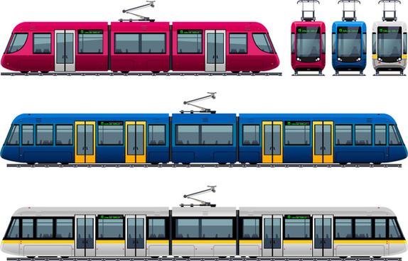 exquisite trolley design vector