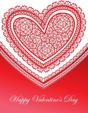 exquisite valentine39s day greeting cards 04 vector