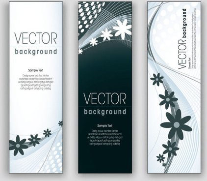 exquisite vertical banner design vector