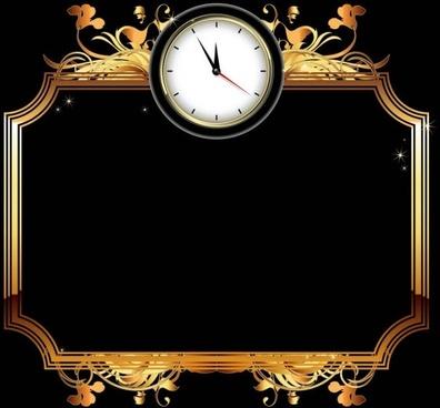 exquisite watches creative background 03 vector
