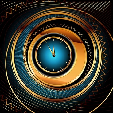 clock background modern colorful dynamic illusion decor