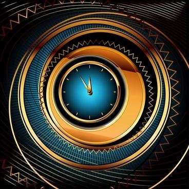 clock background modern colorful dynamic illusion decor